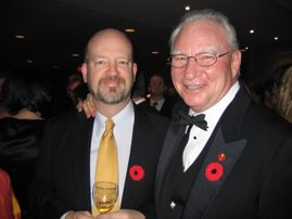 Bill Tieleman and Senator Larry Campbell, former Vancouver mayor