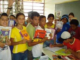 Biblioteca itinerante, os livros indo até os alunos
