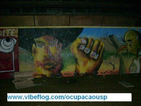 Mural da cultura da ocupaçao