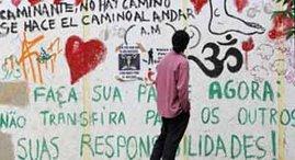 Mural de  cultura da ocupaçao