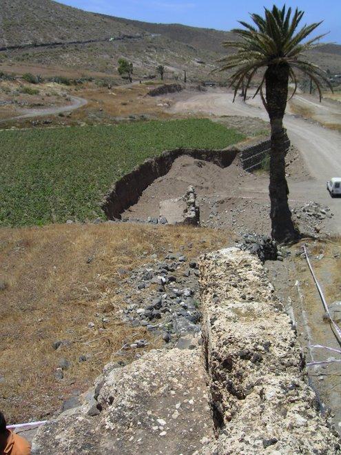 El ingenio al comienzo de la excavación