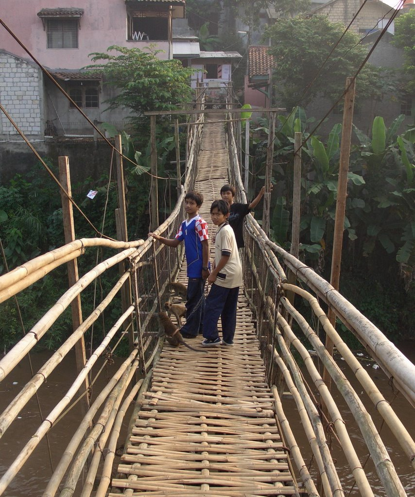 Bamboo Bridge over the Ciliwung, from Tanjung Barat to Rindam Jaya