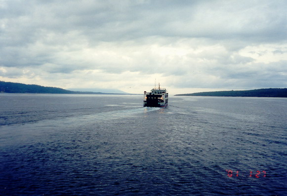 Ferry from Gilimanuk (Bali) to Banyuwangi (East Java), 2001