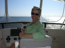 Michele at the helm