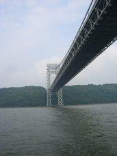 Going under the George Washington bridge