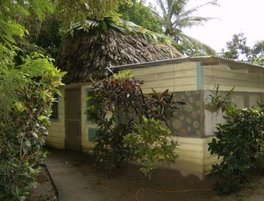 Our thatched roof hut + extras