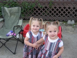 Our twin granddaughters
