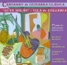 "CD Certamen de Guitarra Clásica  ""Luys Milán"" -Vila de l'Olleria"