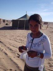 Mamia, una niña saharaui