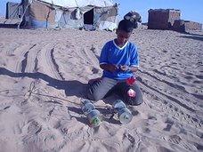 En el desierto....