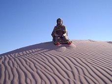 En las dunas....