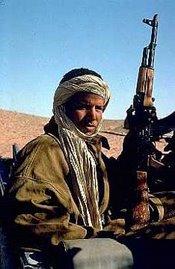 Un guerrillero del Frente Polisario...