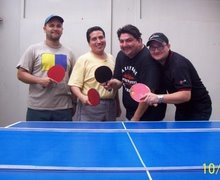 Los amigos y el ping pong