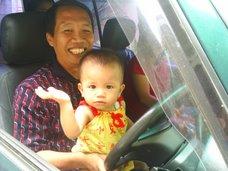 Action bersama cucu pertama