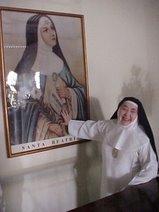 Ir. Maria Antonia com Fundadora SANTA BEATRIZ