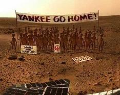 Ni en el planeta Marte los quieren...
