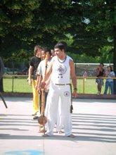 A primeiro roda de capoeira besouro na italia