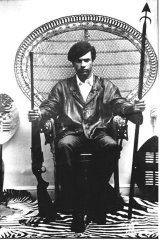 Huey Newton, a 'Son of Malcolm' & founder and leader of the Black Panther Party