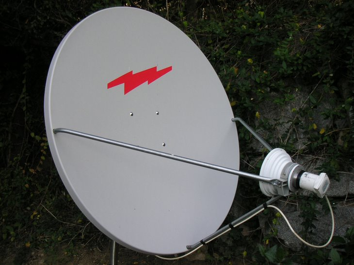 120 cm offset dish (Channel Master)