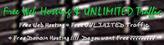 Free Web Hosting & UNLIMITED Traffic