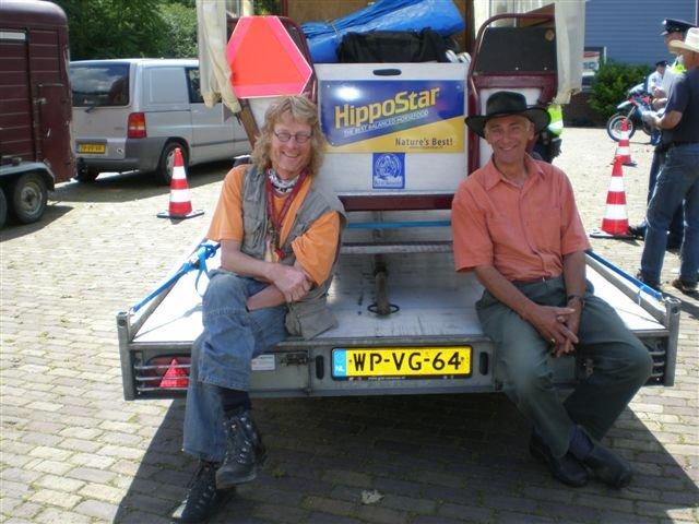 Karsten en Wim wachten het rustig af