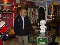 Mr. Sanat-talab owner of Nagmeh music store in Tabriz
