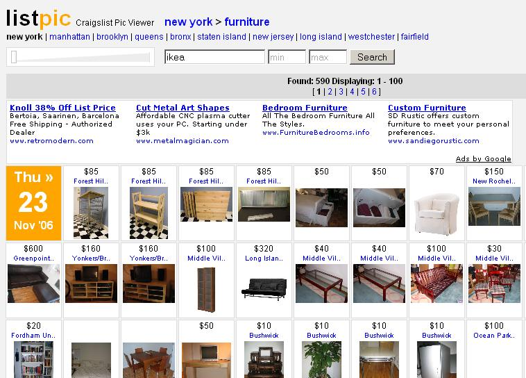 Tip another way to view pics in craig 39 s list listings for Craigslist new york furniture
