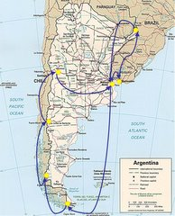 Our route around Argentina