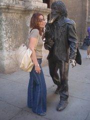 Alina y el Caballero de París en la Habana(febrero 2007)