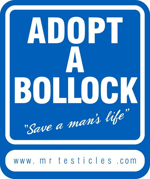 ADOPT A BOLLOCK!!! Support male cancer awareness