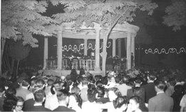 """Inauguración del nuevo """"Kiosko"""" de la Música el 16 de Agosto de 1954."""