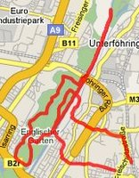 Map for 27/11/06 run