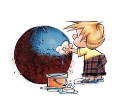 """Vamos todos """"limpar o planeta"""""""