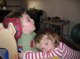Lewis and his cousin Evie
