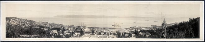 Astoria, Oregon and mouth of the Columbia River 1915
