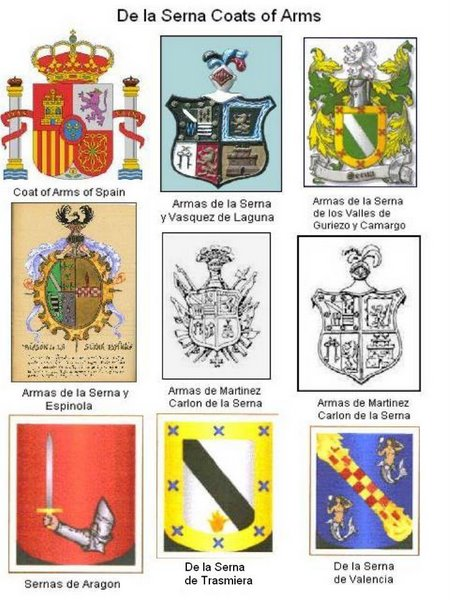 Some Serna Coat of Arms from Spain