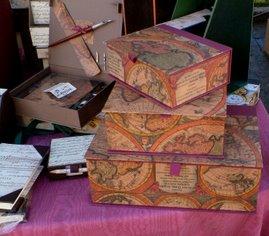 set scatole 30 x20 h 10 cm; 20x16 h 8cm; 18x14 h 6cm