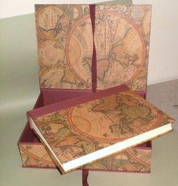 album foto 30x23cm con scatola interamente eseguito a mano