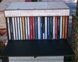 Porta CD a cofanetto a ribaltina capienza 25pz. con possibilità di variare formati e colori