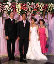 退休京都宣教士和女儿的婚礼 Reimer and Nobuko attended their daughter's wedding