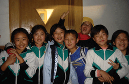 Pupils of the exchange program