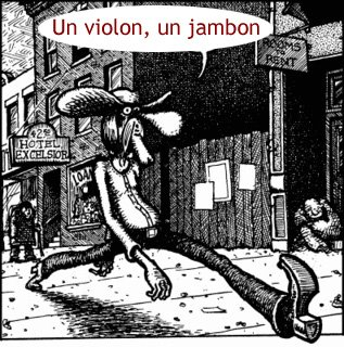 Un violon, un jambon