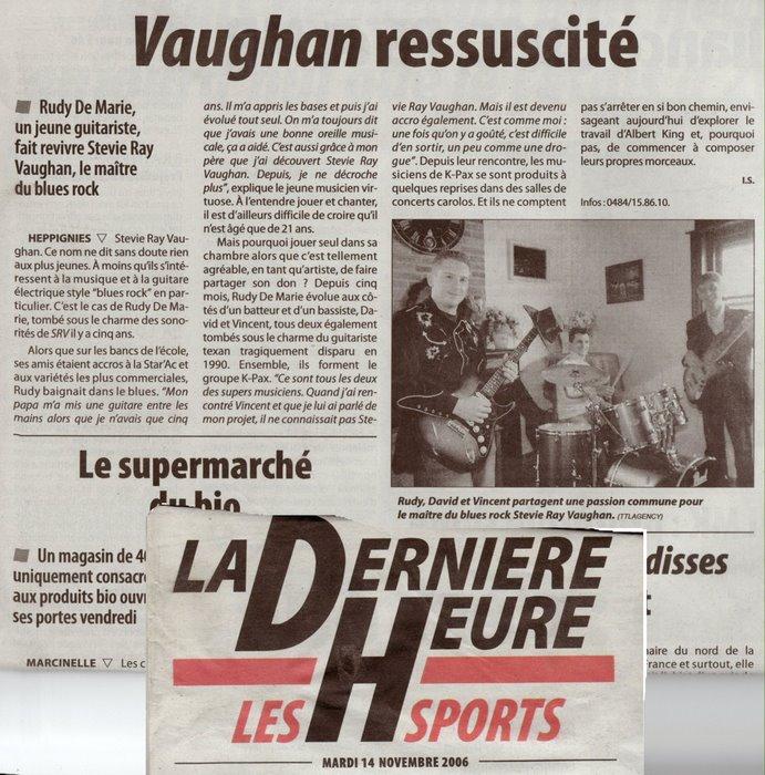 """Article paru dans le Journal """"La Dernière Heure"""""""