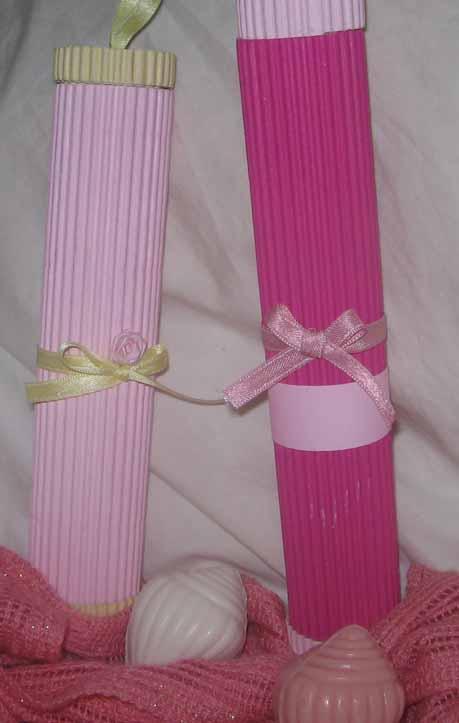 Tarjetas Artesanales GF: Tarjetas cilíndricas en cartón corrugado ...
