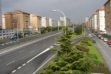 Avenida de Alfonso Molina un domingo por la mañana