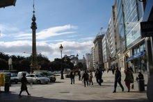 El Obelisco desde el comienzo de la calle Real