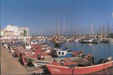 Barcos tradicionales y veleros en La dársena