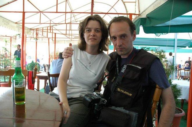 ALBUMUL CU PRIETENI: Alaturi de ziarista Anca Flondor, in Turul Romaniei la ciclism 2005