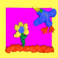 Clay Flower and Bird, by Carley