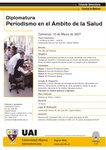 Ya Comienza la Diplomatura de Periódismo en el Ámbito de la Salud, Inscribite  UAI Te. 4300-2147